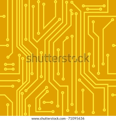 Abstract seamless vector background of computer equipment - stock vector