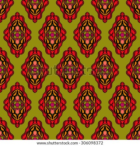 Abstract seamless vector background.  Oriental style - stock vector