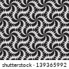 Abstract seamless vector black and white inverted pattern with stylized thorny six stars - stock photo