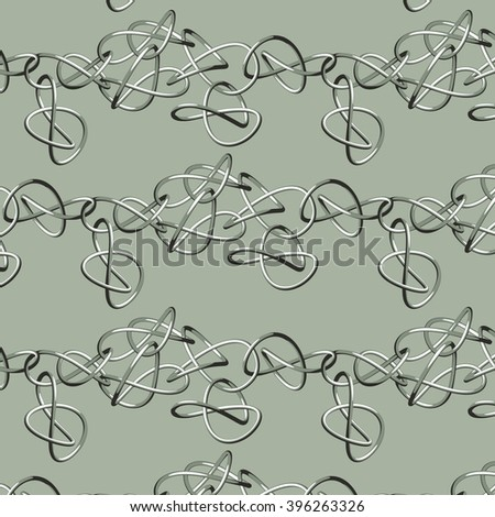 Abstract seamless vector pattern with loops - stock vector