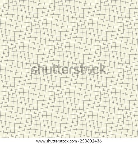abstract seamless wavy grid - stock vector