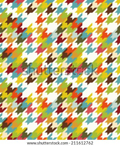 Abstract seamless with colorful shapes on white background. - stock vector