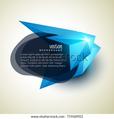 abstract shape design with space for you text - stock vector