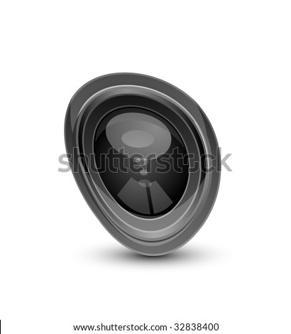 Abstract shape of camera lens - stock vector