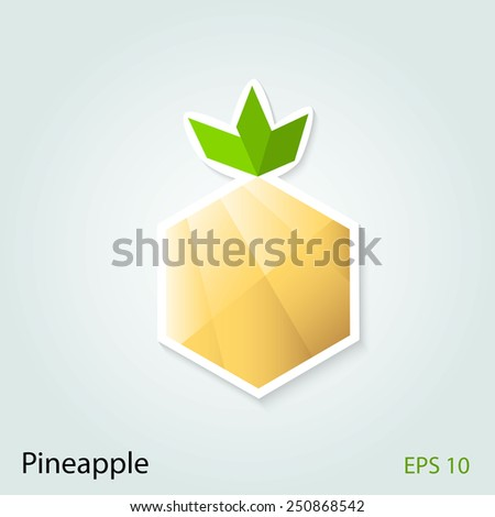 Abstract shape of pineapple vector logo. - stock vector