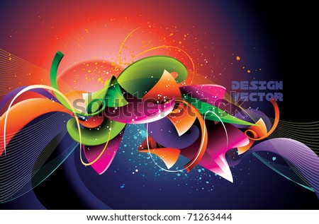 abstract shape vector illustration