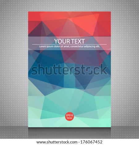 Abstract shapes Flyer Template. Vector design concept. Abstract red/blue background for design. EPS10. - stock vector