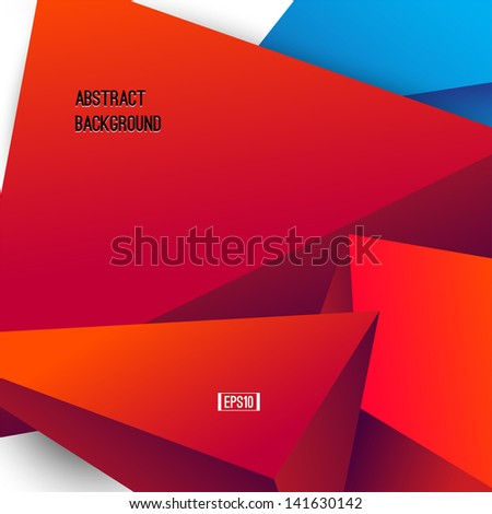 Abstract shapes. Modern geometrical background. Vector banner - stock vector