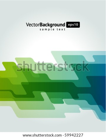 Abstract shapes vector background - stock vector