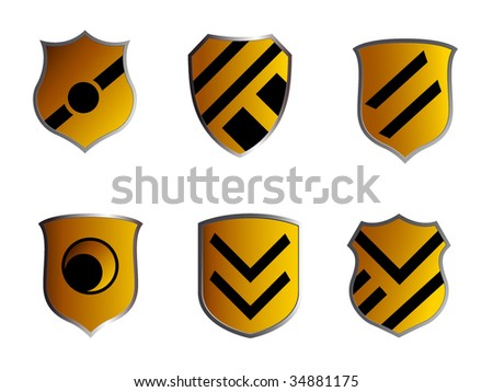 abstract shields
