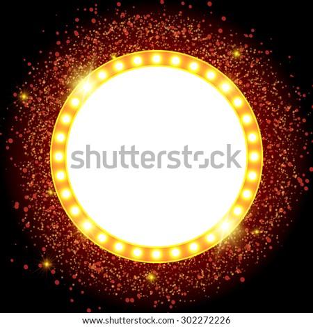 Abstract shining retro light banner. Vector illustration - stock vector