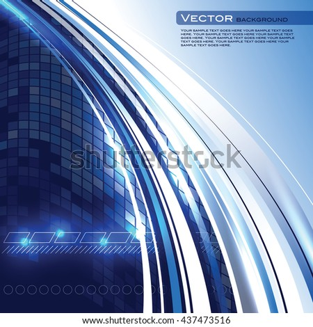 Abstract Shiny Background. Blue Sparkly Illustration. - stock vector