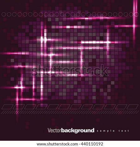 Abstract Shiny Background. Pink Sparkly Illustration. - stock vector