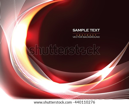 Abstract Shiny Background. Red Sparkly Illustration. - stock vector