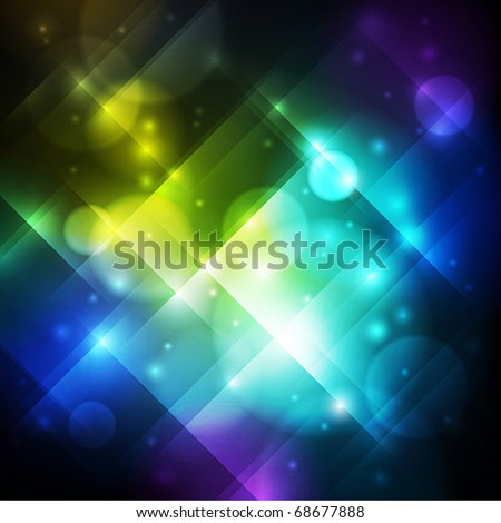 abstract shiny background with lights - stock vector