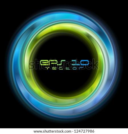 Abstract shiny circles background. Vector logo eps 10 - stock vector