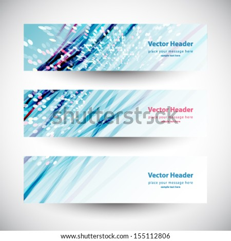 Abstract shiny header blue lines vector illustration  - stock vector