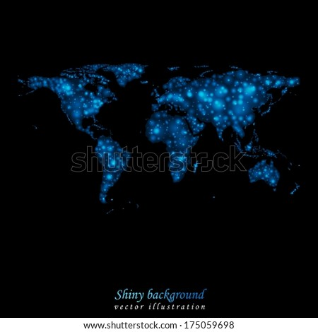 Abstract shiny lights world map vector stock vector 175059698 abstract shiny lights world map vector design eps 10 gumiabroncs Gallery