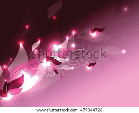Abstract Shiny Pink Background. Vector Illustration.