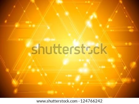 Abstract shiny tech background. Vector design eps 10 - stock vector