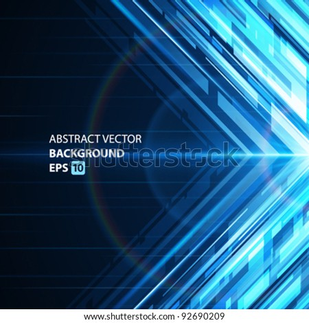 Abstract shiny technology lines and light vector background. Eps 10 - stock vector