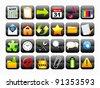 abstract shiny web icon set vector illustration - stock vector