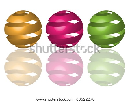 abstract shperes - stock vector