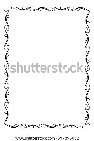Abstract silhouette frame - stock vector