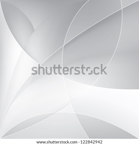 Abstract silver background, vector template - stock vector