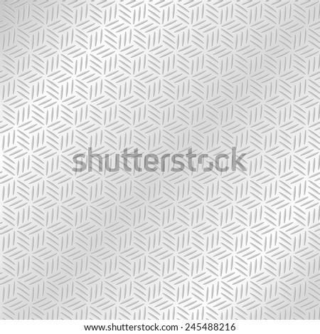Abstract Silver metallic seamless diamond pattern background. Vector illustration - stock vector
