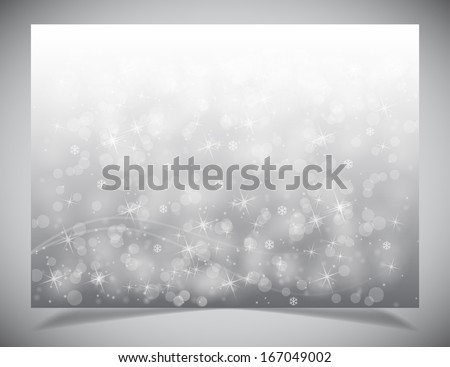 Abstract simple light winter backgound. Vector background - stock vector