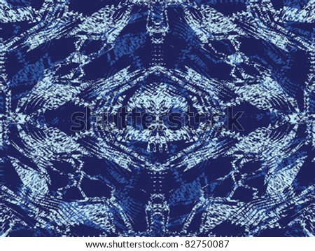 Abstract skulls, ghosts and bones. Seamless pattern.  Vector.