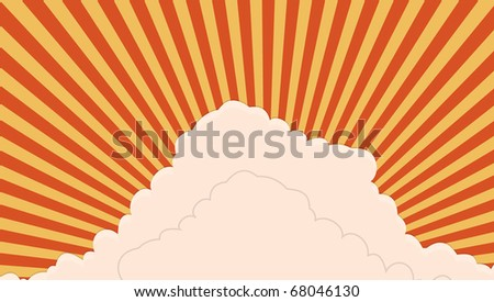 abstract sky and sun beams. vector illustration