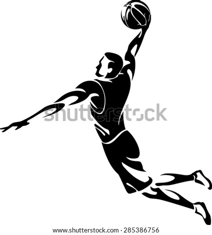 Abstract Slam Dunk Basketball - stock vector