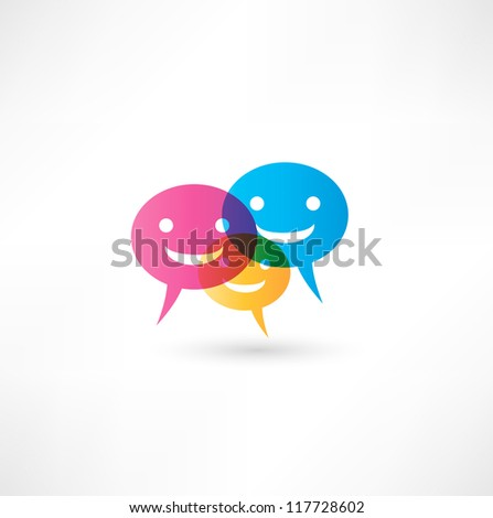 abstract smile talking bubble - stock vector