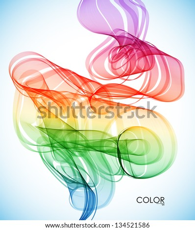abstract Smoke - stock vector