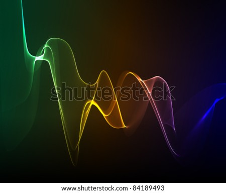abstract smoke background - stock vector