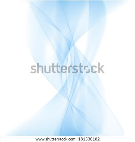 Abstract Smoke Background Vector business Smoke Blue - stock vector