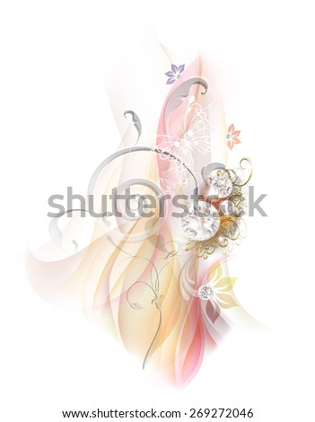 Abstract smoke background with diamonds