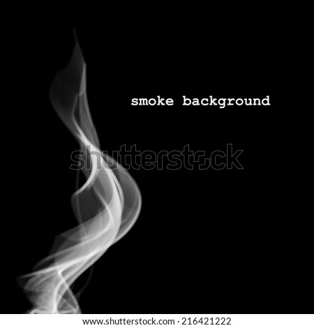 Abstract smoke isolated on black - stock vector