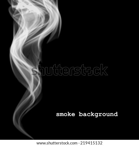 Abstract smoke isolated on black.  Vector illustration - stock vector
