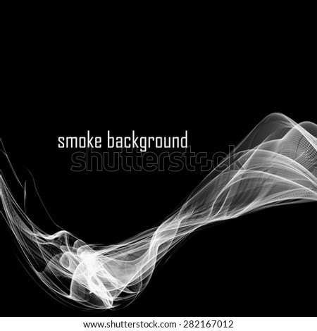 Abstract smoke isolated on black.  Vector illustration. Eps 10 - stock vector
