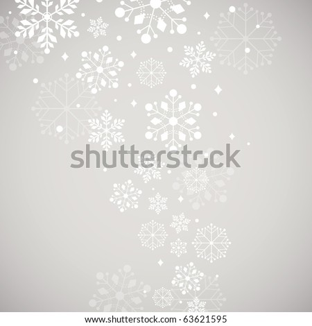 Abstract snow background vector - stock vector