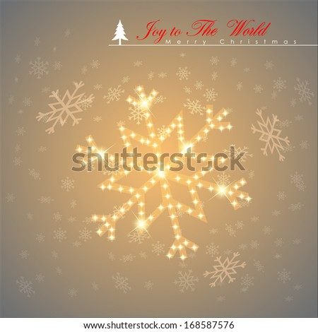Abstract Snow flages with shiny stars. Vector Illustration, EPS 10  - stock vector