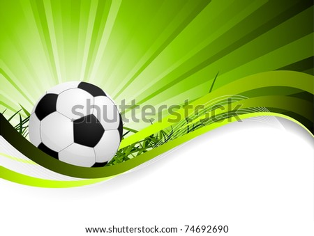 Abstract soccer background - stock vector
