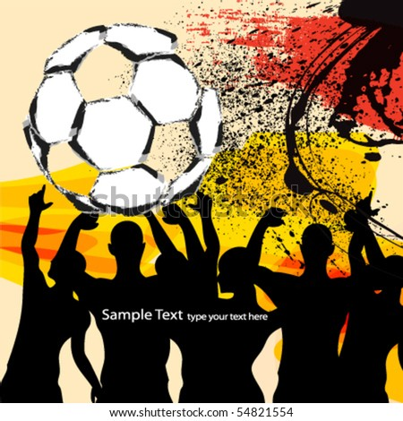 abstract soccer background design - stock vector