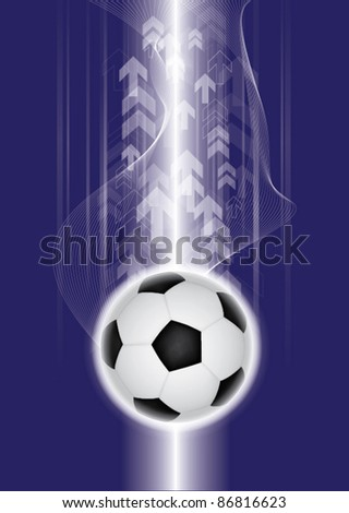 Abstract soccer background, vector illustration