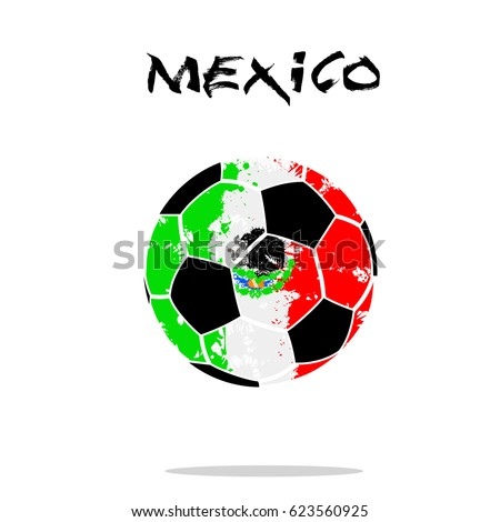 abstract soccer ball painted colors mexico stock vector 623560925