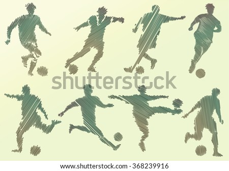 Abstract soccer player - stock vector