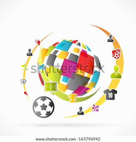 Abstract soccer vector illustration - stock vector